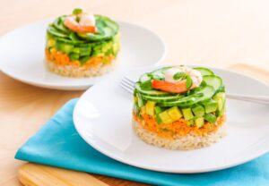Coconut Curry Salmon Towers
