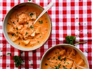 Hearty Salmon Chowder with Thyme