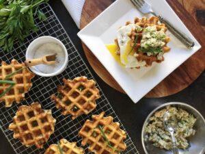 Sharp and Savoury Tuna Melt Waffles