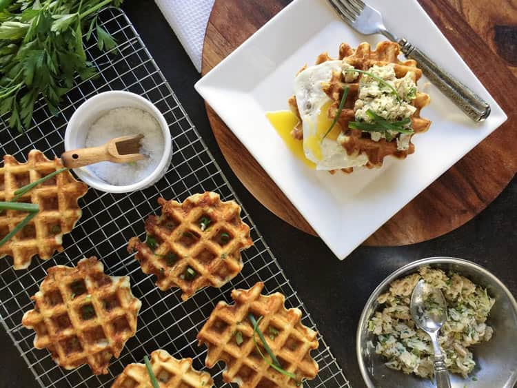 Sharp and Savoury Tuna Melt Waffles