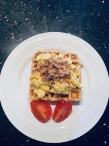 Smokey Waffles with Eggs